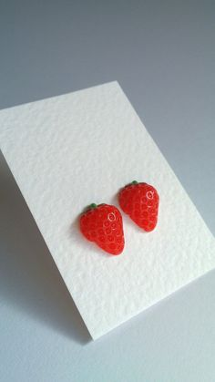 These Strawberry Earrings are so cute! $5