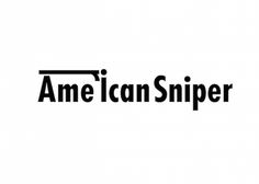 American Sniper by Ji Lee | Smart Typography Reveals Plots of Oscars Movies http://pleaseenjoy.com/
