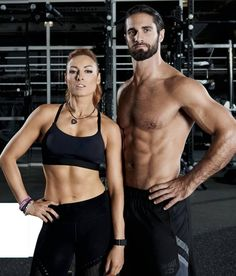 Seth y Becky Wwe Seth Rollins, Seth Freakin Rollins, Biceps, Becky Wwe, Wwe Couples, Wwe Pictures, Bodybuilding, Rebecca Quin, Tips Fitness