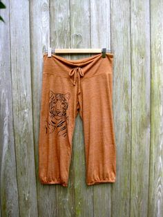 i'm totally serious Tiger Pants Yoga Pants by nicandthenewfie, $26.00