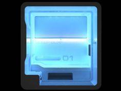 Sleep Pod - sleep box at night