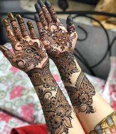 Rose Mehndi Designs, Henna Tattoo Designs Simple, Latest Bridal Mehndi Designs, Full Hand Mehndi Designs, Stylish Mehndi Designs, Mehndi Designs 2018, Henna Art Designs, Mehndi Designs For Girls, Mehndi Designs For Beginners