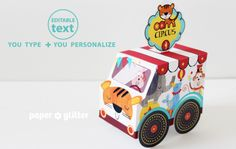 New Printable Circus trucks
