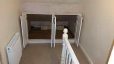 Under Eaves Storage - Real Room Designs & Top Floor Bedroom Under Eaves Cupboards During The Construction ...