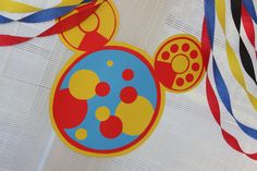 Mickey Mouse Birthday decor - Created Toodles for the porch Clubhouse with 3 colored sheets of posterboard and lots of circles.