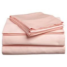 ~Refresh your master suite or guest room with this 300 thread count sheet set, crafted of Egyptian cotton and showcasing a lovely blush hue~