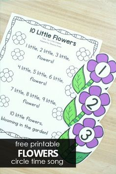 10 Little Flowers Preschool Circle Time Song - Fantastic Fun  Learning