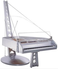 Seiler Suspension Grand Piano – Industrial design, bridge-like appearance, Kitzingen, Germany, 2002
