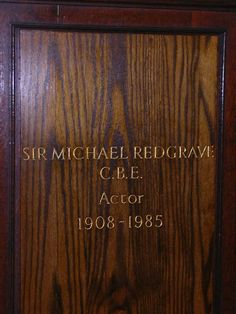 Michael Redgrave (1908 - 1985) Noted British classical actor
