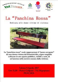 Pescara violenza di genere: sabato 8 aprile installazione della Panchina Rossa
