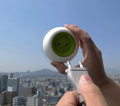 The Window Socket offers a neat way to harness solar energy and use it as a plug socket.
