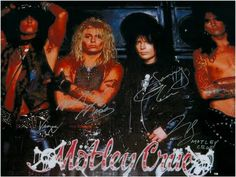 Cool Mötley Crüe Autographed poster, check out www.everymemorabilia.com