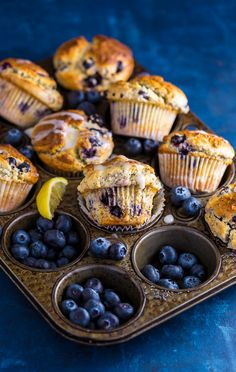These BIG bakery-style Blueberry Lemon Poppy Seed Muffins are so darn good! Especially with a cup of coffee. Cupcakes, Cupcake Cookies, Lemon Poppyseed Muffins, Blueberry Cake, Muffin Recipes, Bread Recipes, Blue Berry Muffins, Dessert Recipes, Delicious Desserts
