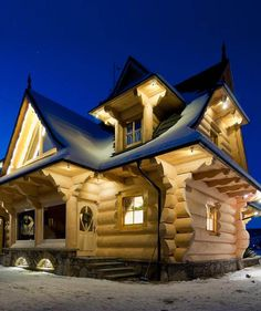 048 Small Log Cabin Homes Ideas Small Log Cabin, Log Cabin Homes, Log Cabins, Small Log Homes, Mountain Cabins, Rustic Cabins, Pre Built Cabins, Rustic Home Design, Cabin In The Woods