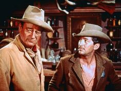 John Wayne and Dean Martin