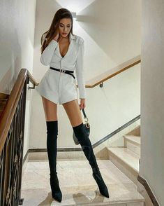 Fashion Boots, Fashion Outfits, Womens Fashion, Sexy Outfits, Cool Outfits, Mini Club Dresses, Sexy Boots, Perfect Woman, Lace Bodysuit