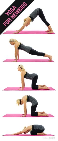 Try these yoga moves tonight! Even if you've never done any yoga before, these are great poses to start with.