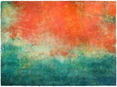 Kari Hall, Garden Of Light, Encaustic, 30 x 40 inches, 2015