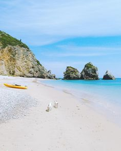 """Still About The Paradise Beach """"Ribeira Do Cavalo"""" We Visited Yesterday . If You Are Coming To Lisbon Next Summer You MUST Visit This Secret Beach In Sesimbra About 1h By Car From Lisbon. It Will Be Worth It!  . Praia Da Ribeira Do Cavalo Sesimbra Portugal . editApp: @izkizcam .  Check Us Out On Snapchat 