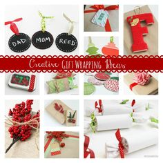 Creative Gift Wrapping Ideas via createcraftlove.com #giftwrapping #christmas