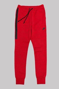 Red Nike Tech Fleece Pants October 2017