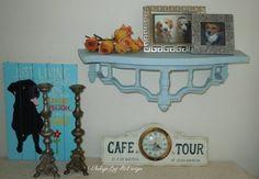 Vintage+Hand+Painted+Shelf+in+Louis+Blue.+by+VintageByReDesign