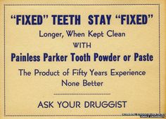 A sign advertising Painless Parker products