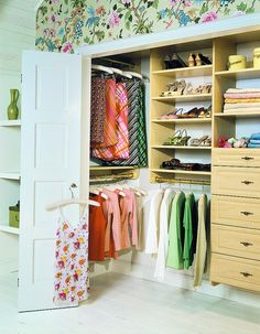 Use side of closet for hanging in Boys' closets
