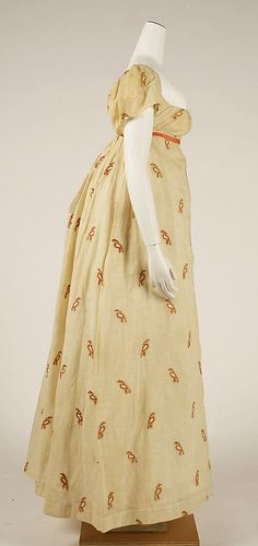 Dress Date: ca. 1810 Culture: American Medium: cotton, wool