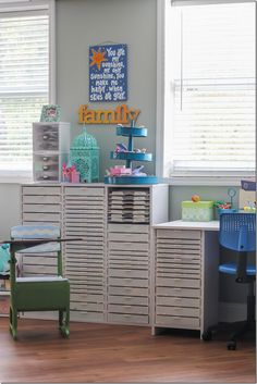 The Most Amazing Scrapbooking Room You Ever Did See.  You've gotta see the rest of this fun room!