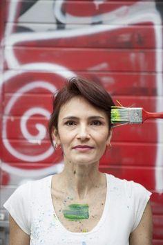 Portrait editorial with an artist Luciana Monin, for Les toiles studio Lausanne, Switzerland photo credits: Jagoda Wisniewska