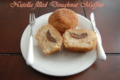 Doughnut Muffins with Nutella Filling