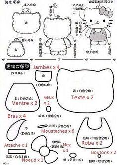 HELLO KITTY!!! Feutrines  Tissus - Petits Plaisirs Bon… - Kokeshi Et Son… - Hello Kitty En… - Mon Voisin Totoro - Enfin, La Feutrine! - The Cupcake Factory - Handmade