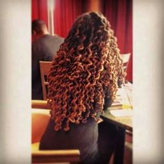 Can't wait for mine to be long so i can do this!  Long curly locs