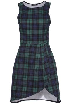 ROMWE Plaid World In Asymmetric Dress 28.33