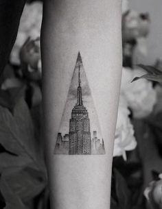118 impresionantes tatuajes de arquitectura,instagram.com. <a href='https://br.pinterest.com/pin/85216617930066187/'>Via Pinterest</a>