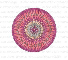 Mandala Doodle Printable Coloring Page - Instant Digital Download JPG - pinned by pin4etsy.com