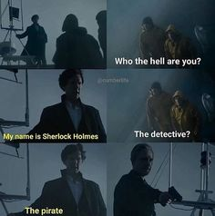 "Sherlock ""The Final Problem"".""My name is Sherlock Holmes. The pirate"" - and John Sherlock Series, Sherlock Holmes Bbc, Sherlock Fandom, Sherlock John, Funny Sherlock, Jim Moriarty, Sherlock Quotes, Martin Freeman, Doctor Who"
