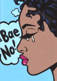Bae no black crying comic girl original pop art painting african american woman Pop Art Girl Crying, Crying Girl Drawing, Cry Drawing, Comic Drawing, Sad Paintings, Drawings Of Black Girls, Dope Art, Comics Girls, Art Sketchbook