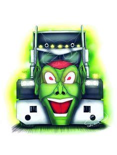 Truck Art, Tow Truck, Big Trucks, Custom Trucks, Custom Cars, Maximum Overdrive, Neon Wallpaper, Automotive Art, Sexy Cars