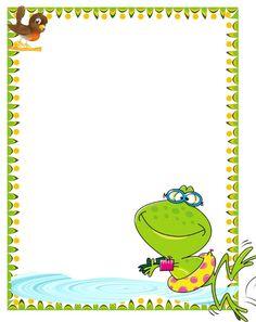 BORDERS FOR KID: DISEÑO GRAFICO Los Niños pequeños y el exito Frog Activities, School Border, Boarders And Frames, Kids Background, School Frame, Page Borders, Cartoon Pics, Cartoon Picture, Paper Frames