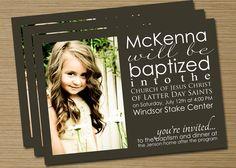 LDS Baptism Announcement/Invitation    #LDSTemple #LDSBaptism #LDS