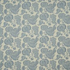 This design has been adapted from a rare textile sample dating from the 18th Century which was discovered in a farmhouse in Provence. These textiles known as 'China Blues' or ' Bleu Anglais' were block printed with indigo pigment onto a pattern of paste resist to create simple stylised motifs of flowers and fruits.