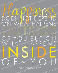 LDS Happiness Quote Subway Art POSTER by Harold B. Lee by juliehum, $4.00