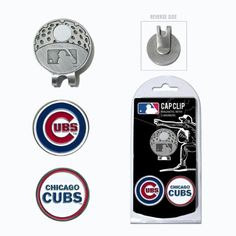 Chicago Cubs Hat Clip w/ 2 Double Sided Golf Ball Markers ** Continue to the product at the image link.
