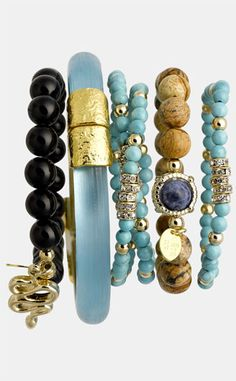 I am obsessed with bracelets!  Alexis Bittar Cara Bracelets
