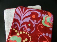 Baby Girl Amy Butler Flannel Burp Cloth by DirtyRags on Etsy