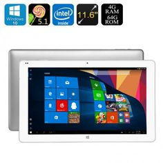 Cube iWork1 X Tablet PC - 11,6 pollici IPS touchscreen, Windows 10, Android 5.1, processore Intel Atom Z8350 CPU, RAM 4GB