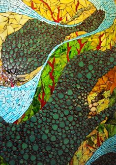 Mosaics adorn walls in the patient registration area at ProHealth Care's Waukesha Memorial Hospital, created by Dousman artist Laura Harris.