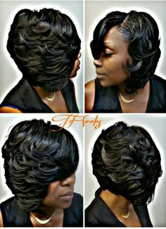 66 Chic Short Bob Hairstyles & Haircuts for Women in 2019 - Hairstyles Trends Chic Short Hair, Short Curly Hair, Curly Hair Styles, Natural Hair Styles, Curly Braids, Weave Bob Hairstyles, Hairstyles Haircuts, Sassy Haircuts, Hairstyles Pictures
